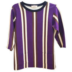 Marni Purple and Brown Vertical Stripe Blouse Size: 8 (M)