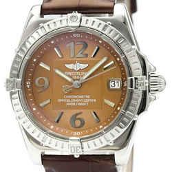 Polished BREITLING Callisto Steel Leather Quartz Ladies Watch A77346 BF516538