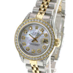 Rolex Lady Datejust 69173 26mm White MOP Diamond Dial Lugs Diamond Bezel