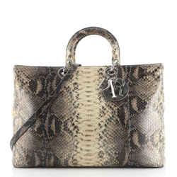 Lady Dior Bag Python XL