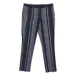 Tory Burch Striped Navy Blue High Rise Straight Leg Pants Sz 2