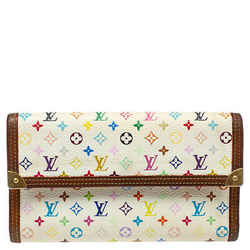Louis Vuitton White Multicolor Monogram Canvas Porte Tresor International Wallet