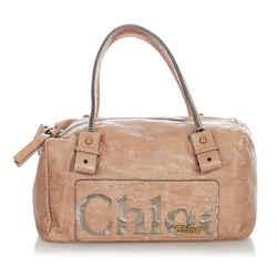 Pink Chloe Eclipse Leather Boston Bag