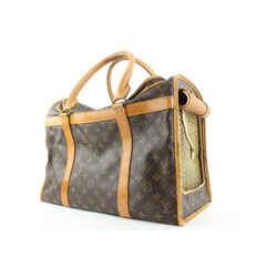 Louis Vuitton HARD TO FIND Monogram Sac Chien 50 Dog Carrier Pet Tote Bag 752lvs325