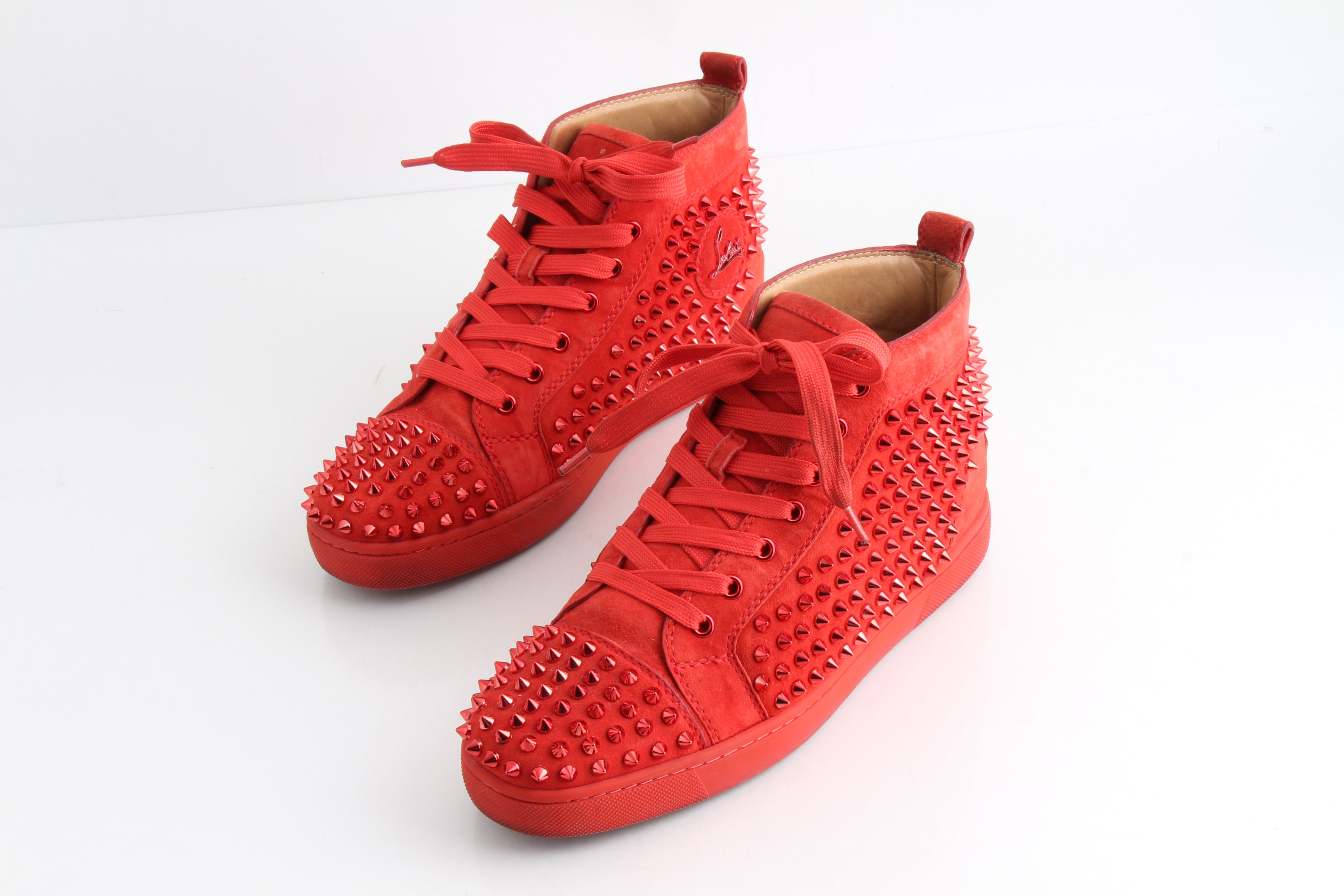 Christian Louboutin Red Spiked Flat