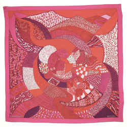 A Travers Champs Scarf Printed Cashmere and Silk 140