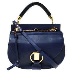 Chloe Blue Leather Motty Crossbody Bag