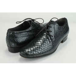 Lanvin Python Derby Oxfords - Black