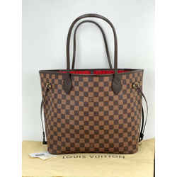 Louis Vuitton Neverfull MM Damier Ebene Tote  Shoulder Bag N51105 A646 Authentic