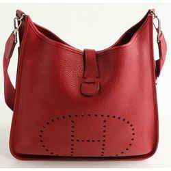 Hermes Evelyne III GM Bag - Red