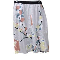 Marni Grey Multicolor Print Cotton Skirt Sz 46