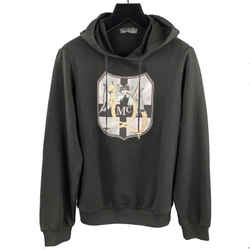 Embellishment Cotton Hooded Sweatshirt