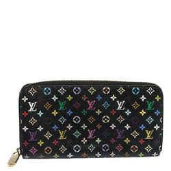 Louis Vuitton Black Multicolore Monogram Canvas Zippy Wallet