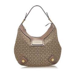 Brown Loewe Anagram Canvas Hobo Bag
