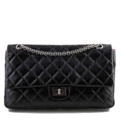 Chanel Black Patent Double Flap