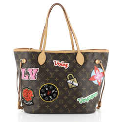 Neverfull NM Tote Limited Edition Patches Monogram Canvas MM