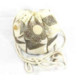 Vintage Dior Beaded Drawstring Bag