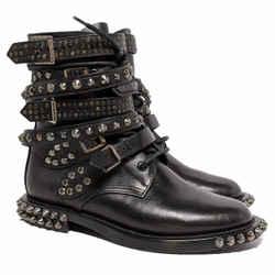 Saint Laurent Black Ranger Studded Boots