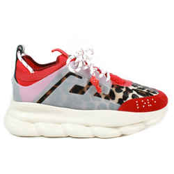 Versace - New - Chain Reaction Sneakers Shoes - Red Leopard - Mens US 9 - 42