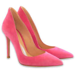 Ellipsis High-Back Pumps | Pink Suede