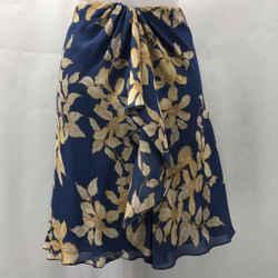 Valentino Blue Silk Skirt 8
