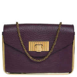 Chloe Purple Leather Small Sally Shoulder Bag