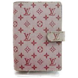 Louis Vuitton 872104 Monogram Mini Lin Diary Cover Agenda PM Bordeaux