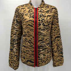 Etro Brown Animal Print Puffer Jacket Size 14