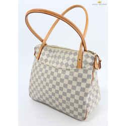 Louis Vuitton Figheri Damier Azur PM White Handbag