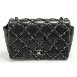 Chanel Quilted Chain Me Small Flap Bag - Black