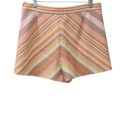 Valentino Peach Cream Print Wool Shorts sz 6
