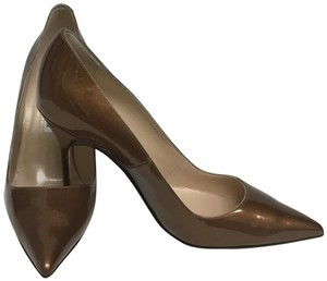 Manolo Blahnik Bronze Patent Leather Pumps Size: EU 38 (Approx. US 8) Regular (M, B) Item #: 25104507