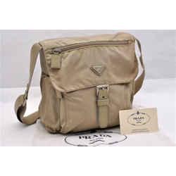 Prada | Nylon Shoulder Bag Khaki One Size Authenticity Guaranteed