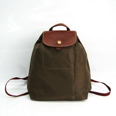 Longchamp Le Pliage SAC A DOS XS Women's Nylon,Leather Backpack Brown,K  BF518620