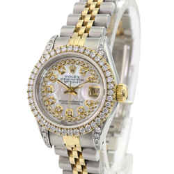 Rolex Lady Datejust White MOP Diamond Dial Lugs Diamond Bezel 26mm