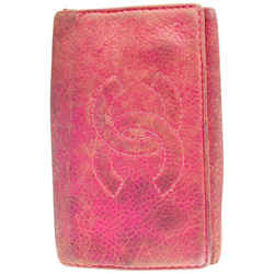 Chanel Pink Lambskin Leather Key Holder 6 Keys 12cc519