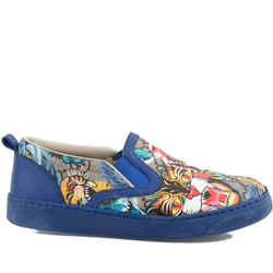 Gucci Slip-on Sports Shoes Printed Multicolor US-10.5 Authenticity Guaranteed