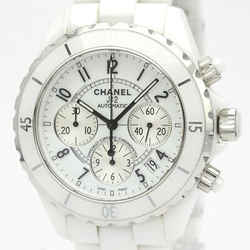 Polished CHANEL J12 Chronograph Ceramic Automatic Mens Watch H1007 BF525168