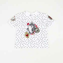 Dolce & Gabbana Printed Cotton T-Shirt Girl's SZ: 9/10