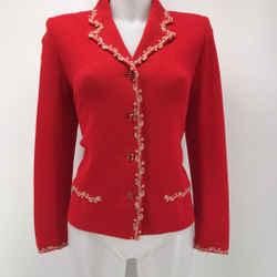 St John Embroidered Trim Jacket Size 6