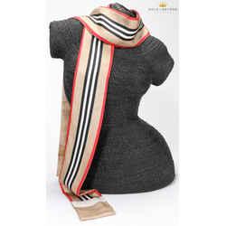 Burberry Icon Stripe Print Silk Skinny Scarf