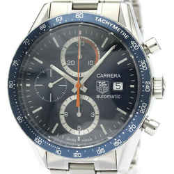 Polished TAG HEUER Carrera Chronograph Steel Automatic Watch CV2015 BF518314