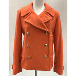Authentic Coach Coral Double Breasted Short Jacket Sz M
