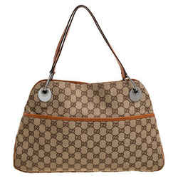 Gucci Beige/Brown GG Canvas and Leather Eclipse Shoulder Bag