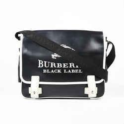 Burberry Black Label Leather Messenger Bag Men's