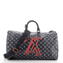 Keepall Bandouliere Bag Limited Edition Upside Down Monogram Ink 50