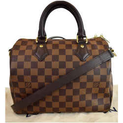 Louis Vuitton Speedy 25 Bandouliere Damier Ebene Shoulder Bag Brown