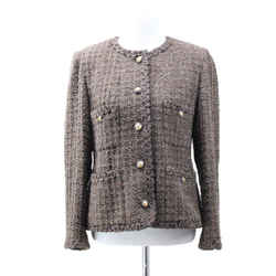 Chanel Brown Tweed Jacket sz 6