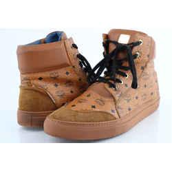 MCM Cognac Classic Street High-Top Sneaker
