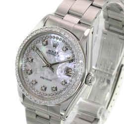 Rolex White Mop Oyster Date Precision Diamond Dial Diamond Bezel 34mm Watch